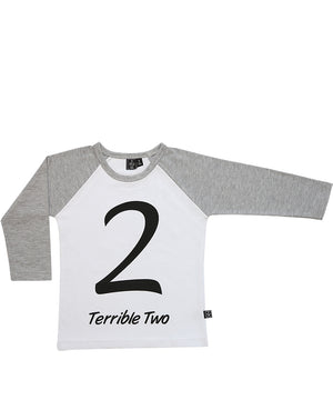 Terrible Two / Raglan White
