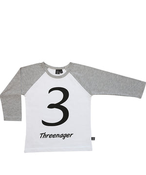 Threenager / Raglan White