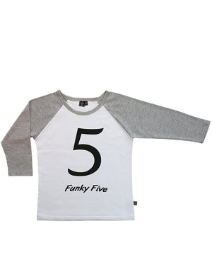 Funky Five / Raglan White