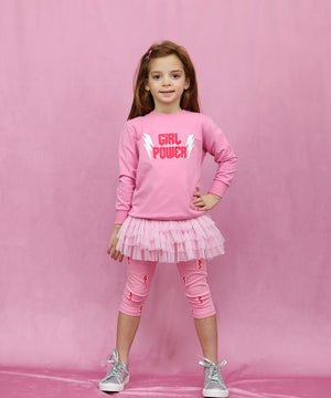 Pinky Flashy Capri Tutu Leggings