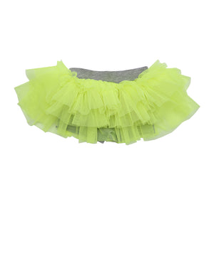 Neon on Grey Mini Tutu Leggings