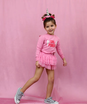 Pink on Pink Mini Tutu Leggings