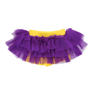 Purple on Lemon Mini Tutu Leggings