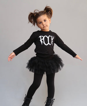 Black on Black Tutu Leggings