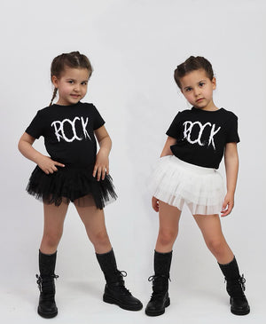 Black on Black Mini Tutu Leggings