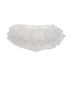 White on White Mini Tutu Leggings
