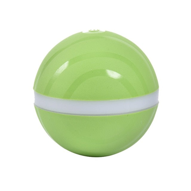 Automatic Pet Jumping Ball USB Electric LED Rolling Flash Ball Funny Toy Dog Cat