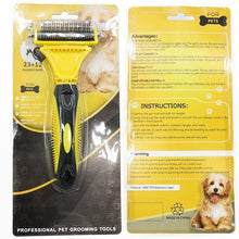 Load image into Gallery viewer, Undercoat Rake - Pet Hair Brush Grooming 2 Sided Professional