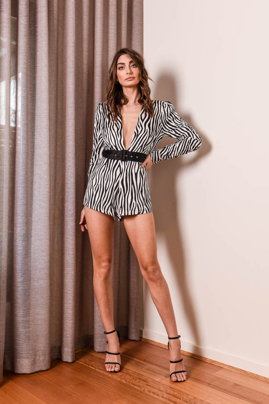 Jagged Playsuit Dresses The Lust Label