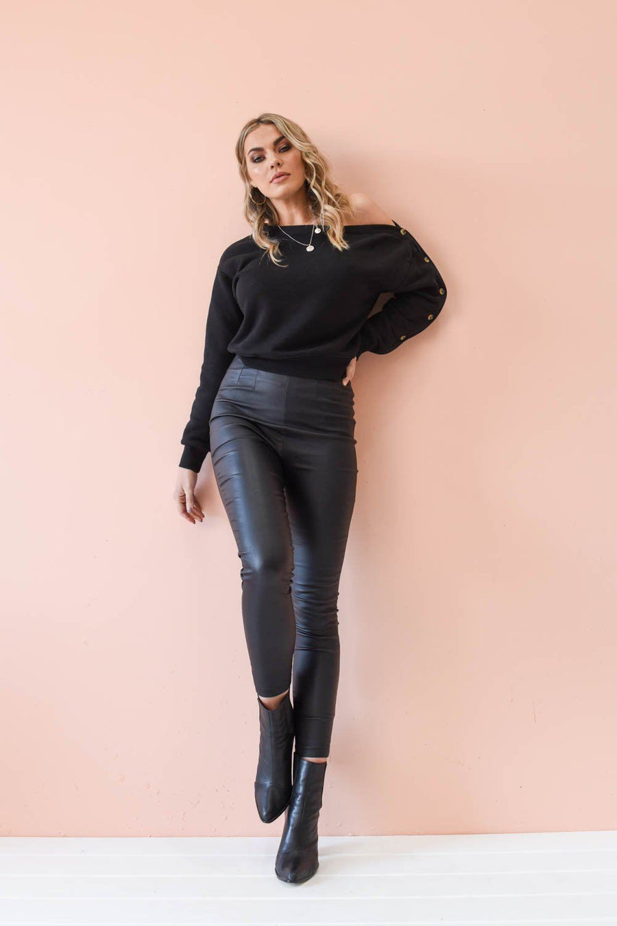 Marlee Vegan Leather Pants Bottoms The Lust Label