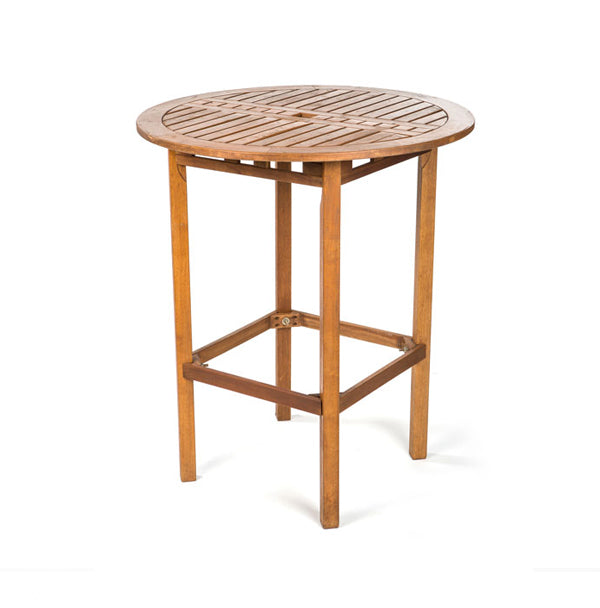 HIGH TOP TEAK ROUND TABLE Choura Events - Teak high top table