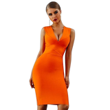 Women's Deep V-Neck Bandage Dress