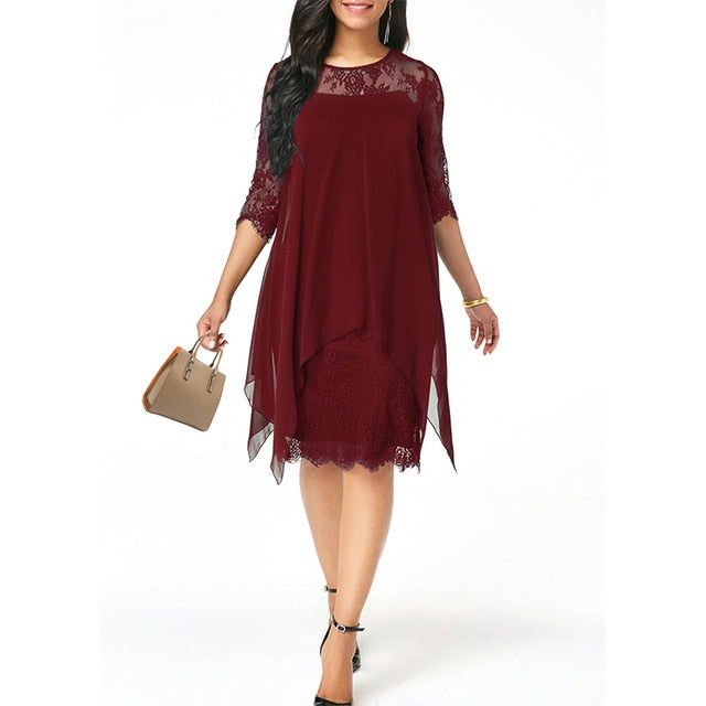 Women's Fashionable Loose Half Sleeve Casual Dress