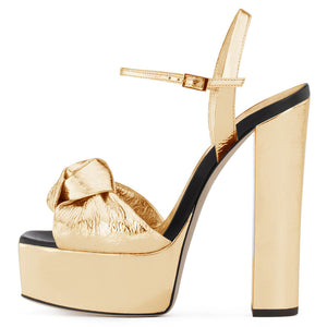 Women's Knotted High Heel Sandals