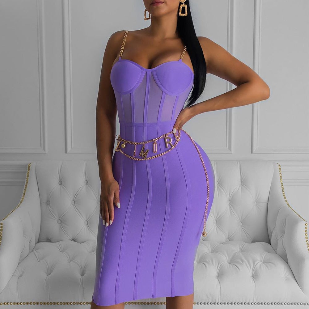Women's Sleeveless Bandage Bodycon Party Dress