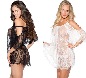 Women's Black Eyelash Lace Costumes