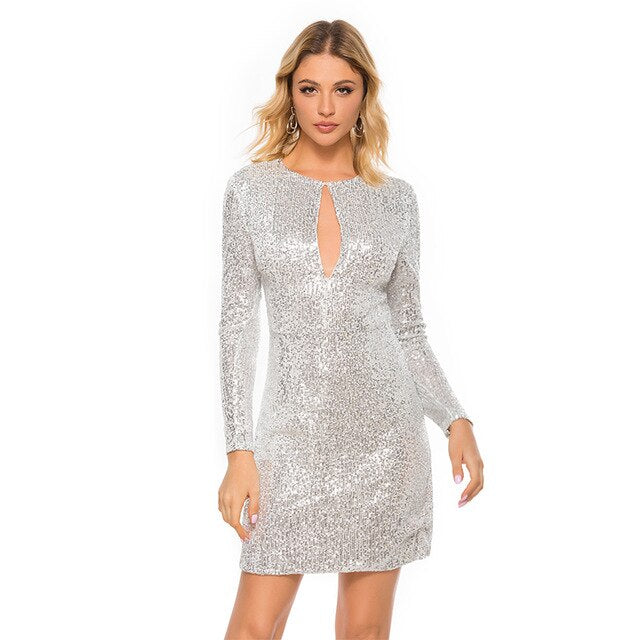 Sexy Sequined Women's  Dress