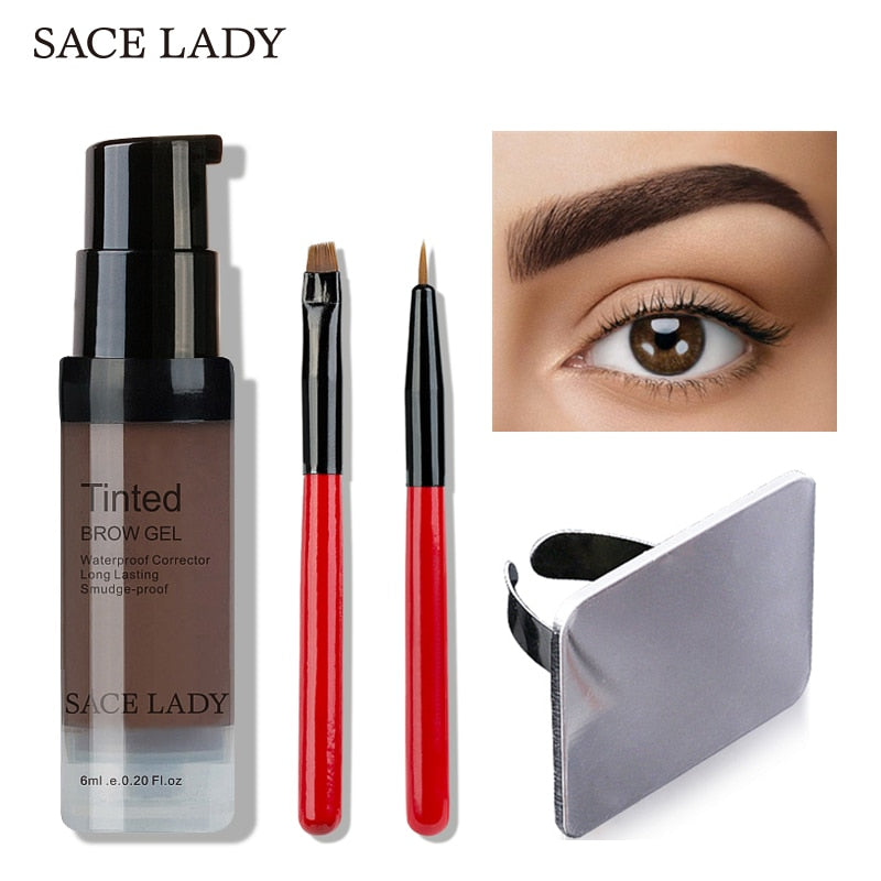 SACE LADY Waterproof Eyebrow Henna Gel + Enhancer Tint Brush
