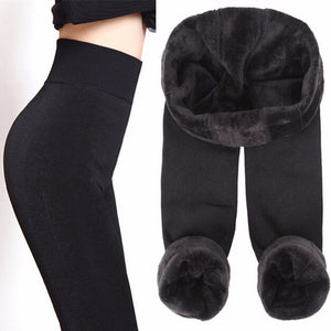 High Waist Thick Velvet Winter Leggings