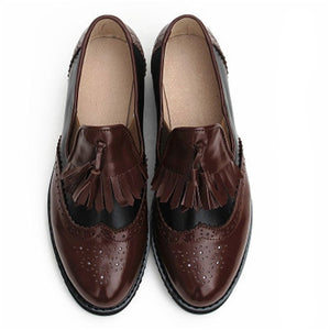Women's Oxford Genuine leather loafers