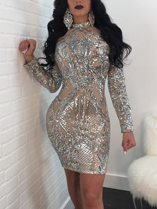 Classic Sequins Party Dress