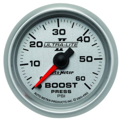 AUTO METER  ULTRA-LITE II SERIES BOOST GAUGE 2-1/16
