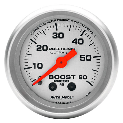 AUTO METER  ULTRA-LITE SERIES BOOST GAUGE 2-1/16