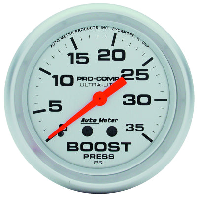 AUTO METER  ULTRA-LITE SERIES BOOST GAUGE 2-5/8