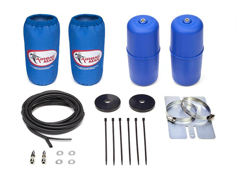 AIRBAG MAN AIR SUSPENSION HIGH PRESSURE HELPER KIT FOR COIL SPRINGS TO SUIT HOLDEN JACKAROO / MONTEREY UBS2, UBS6 & UBS7 92-04 (CR5022HP)