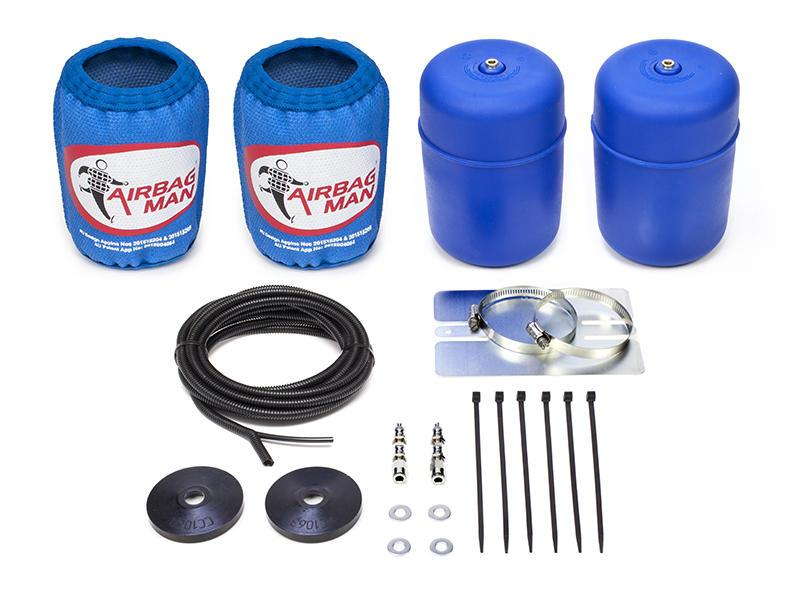 AIRBAG MAN AIR SUSPENSION HIGH PRESSURE HELPER KIT FOR COIL SPRINGS TO SUIT MITSUBISHI PAJERO NF, NG Coil Rear 88-92 (CR5031HP)