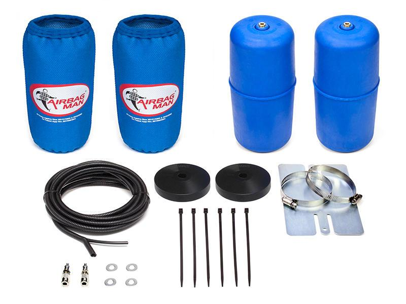 AIRBAG MAN AIR SUSPENSION HIGH PRESSURE HELPER KIT FOR COIL SPRINGS TO SUIT NISSAN NAVARA D23 Dual Cab Coil Rear 4x2, 4x4 15-18 RAISED 20-30mm (CR5135HP)