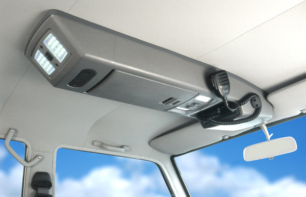 OUTBACK ROOF CONSOLE TO SUIT 70 SERIES TOYOTA LAND CRUISER 2012 ONWARDS (RC70AB) DUAL CAB