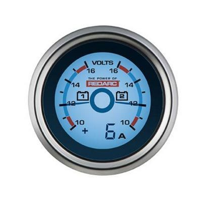 REDARC DUAL VOLTAGE 52MM GAUGE WITH OPTIONAL CURRENT DISPLAY (G52-VVA)