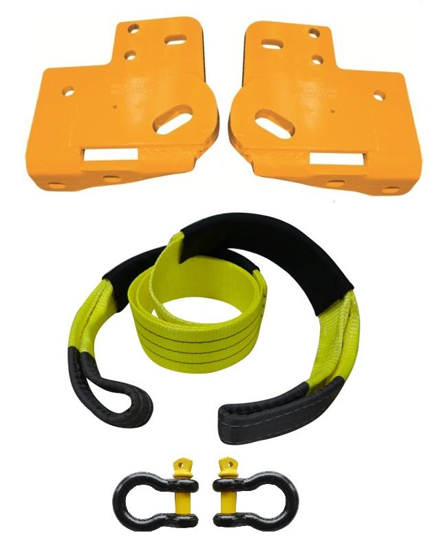 ROADSAFE TOW POINTS TO SUIT ISUZU D-MAX 2012 ON (RP-COL02KIT) PAIR - PLUS BRIDLE AND SHACKLES