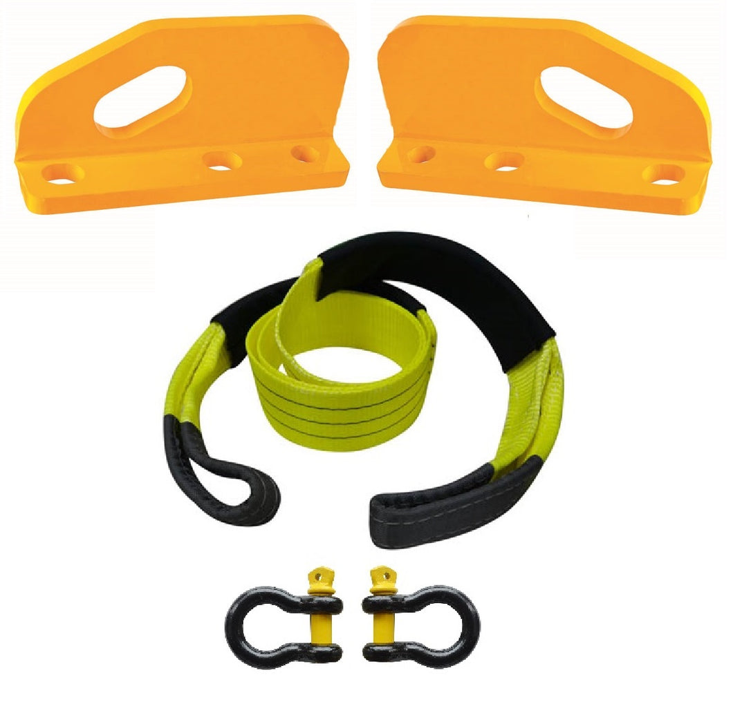 ROADSAFE TOW POINTS TO SUIT TOYOTA LANDCRUISER 200 SERIES (RP-CRU200KIT) PAIR - PLUS BRIDLE AND SHACKLES