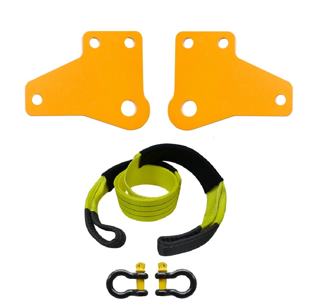 ROADSAFE TOW POINTS TO SUIT TOYOTA HILUX KUN 2005 0N (RP-HIL05V2KIT) PAIR - PLUS BRIDLE AND SHACKLES