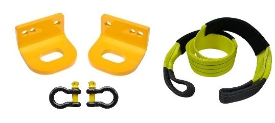 ROADSAFE TOW POINTS TO SUIT NISSAN NAVARA D22 (RP-NAV22KIT) PAIR - PLUS BRIDLE AND SHACKLES