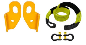 ROADSAFE TOW POINTS TO SUIT NISSAN PATROL GU SERIES 2 ON (RP-PAT04KIT) PAIR - PLUS BRIDLE AND SHACKLES