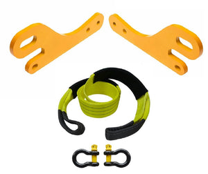 ROADSAFE TOW POINTS TO SUIT TOYOTA PRADO 150 SERIES (RP-PRA150KIT) PAIR - PLUS BRIDLE AND SHACKLES