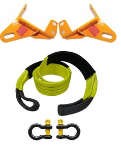 ROADSAFE TOW POINTS TO SUIT MAZDA BT-50 GEN 1 2007-2011 (RP-RAN01KIT) PAIR - PLUS BRIDLE AND SHACKLES