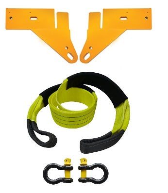 ROADSAFE TOW POINTS TO SUIT FORD RANGER PX 2011 ON (RP-RAN02KIT) PAIR - PLUS BRIDLE AND SHACKLES