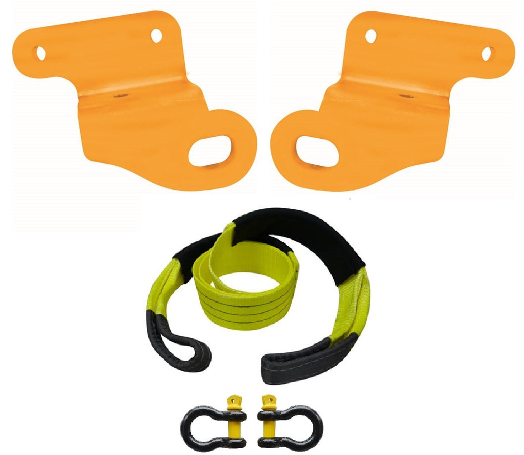 ROADSAFE TOW POINTS TO SUIT MITSUBISHI TRITON ML-MN (RP-TRI02KIT) PAIR- PLUS BRIDLE AND SHACKLES