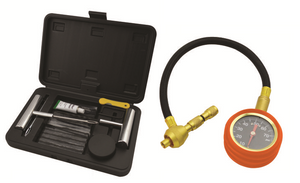ROADSAFE TYRE DEFLATOR QUICK DEFLATER WITH GAUGE AND TYRE REPAIR KIT (SB613 + SB614)