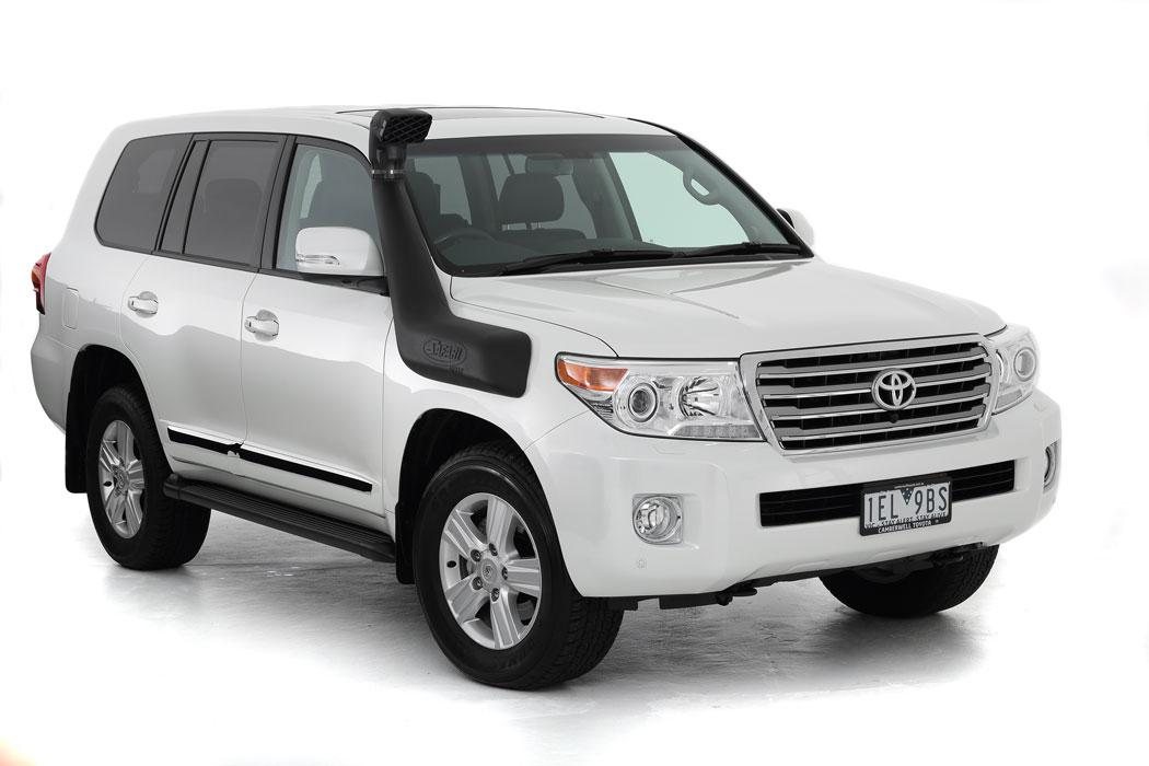 SAFARI SNORKEL TO SUIT TOYOTA LANDCRUISER 200 SERIES TO 09/2015 1VD-FTV 4.5L I/cooled V8 T/T Dsl., F/Lift Dsl., 2UZ-FE 4.7L V8 Petrol, F/Lift Petrol Mdls (SS88HP)