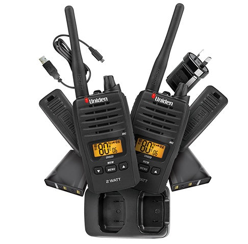 UNIDEN UH820S-2 2W UHF TWIN PACK