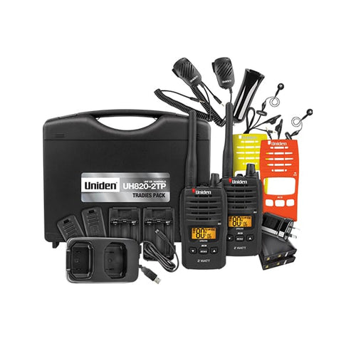 UNIDEN UH820S-2TP 2W UHF TRADIES TWIN PACK