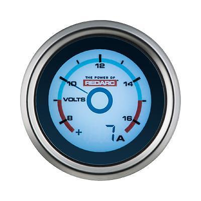 REDARC SINGLE VOLTAGE 52MM GAUGE WITH OPTIONAL CURRENT DISPLAY (G52-VA)