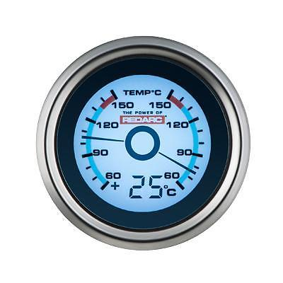 REDARC SINGLE OIL PRESSURE 52MM GAUGE WITH OPTIONAL TEMPERATURE DISPLAY (G52-PT)