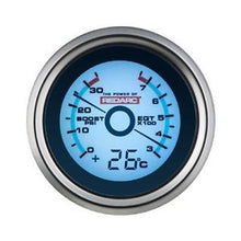 Load image into Gallery viewer, REDARC EGT & BOOST PRESSURE 52MM GAUGE WITH OPTIONAL TEMPERATURE DISPLAY (G52-BET)