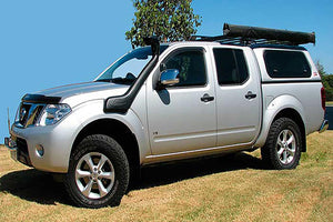 SAFARI SNORKEL TO SUIT NISSAN NAVARA D40 3/11 To 2015 ST-X 550, R51 5/10 On Ti 550, 3.0L V9X Intercooled Turbo V6 Dsl., (SS736HF)